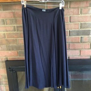 Black drapey Eileen Fisher skirt